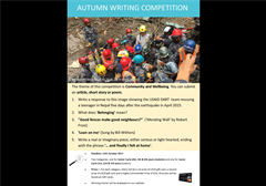 Autumn Writing Competition