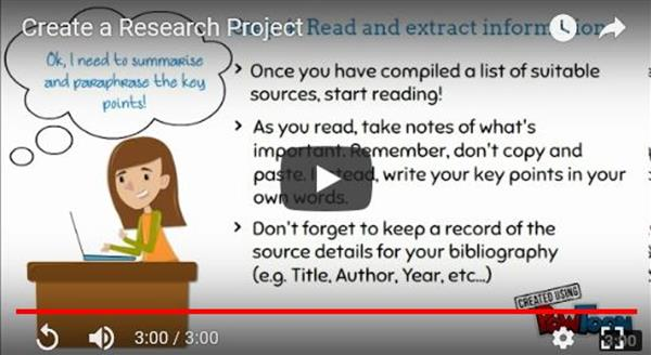 Create a research project effectively